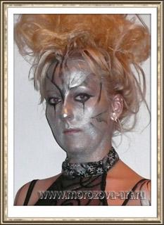 Тёмный Ангел, аквагрим на празднование Хеллоуина