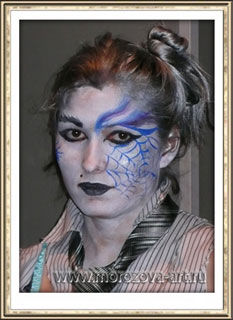Готичная Ведьмочка, аквагрим на Хеллоуин