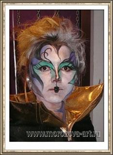 Вампирелла, тематический аквагрим на Хеллоуин