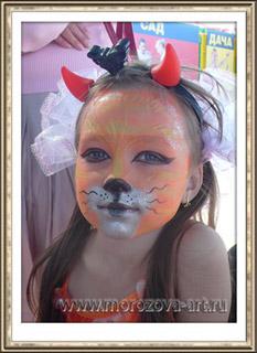 Бэмби Оленёнок, детский праздничный аквагрим.
