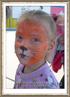Белочка детский праздничный аквагрим