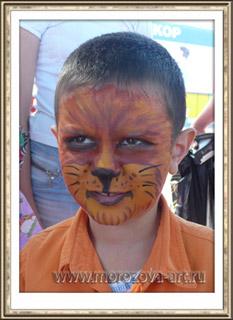 Мишутка, детский праздничный аквагрим